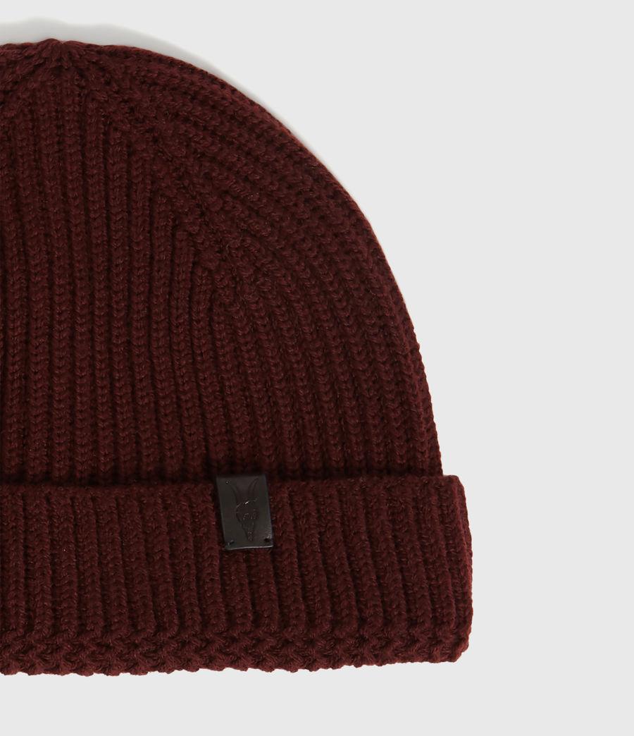 Men's Merino Wool Beanie (maroon_red) - Image 3