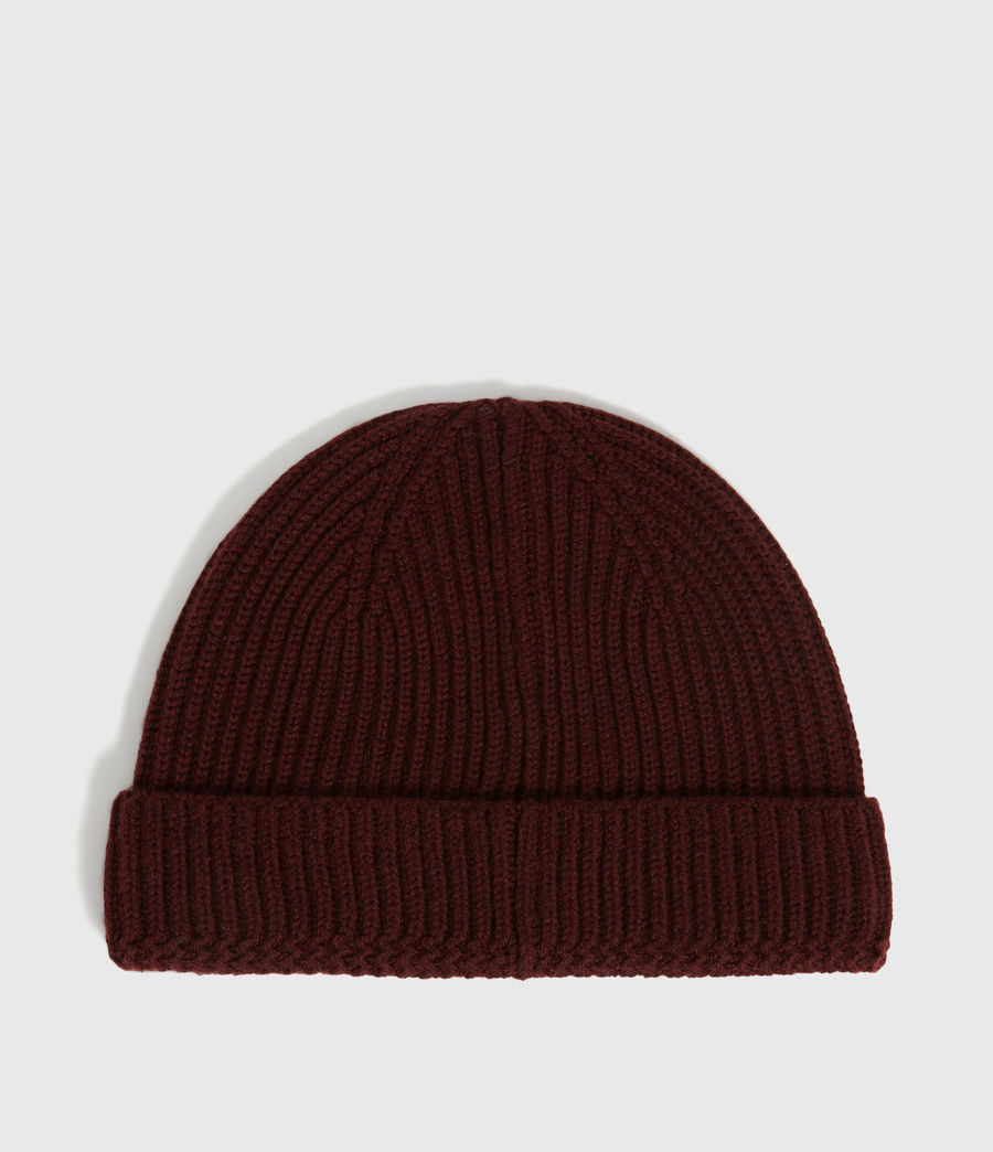 Men's Merino Wool Beanie (maroon_red) - Image 5