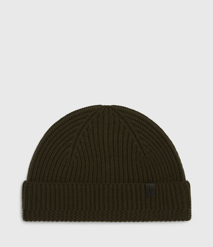 Men's Merino Wool Beanie (army_green) - Image 2