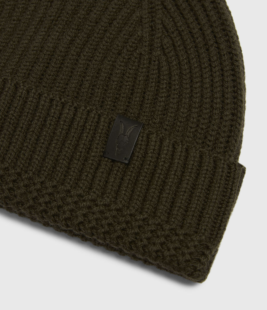 Men's Merino Wool Beanie (army_green) - Image 4
