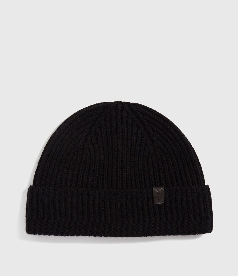 Men's Merino Wool Beanie (black) - Image 1