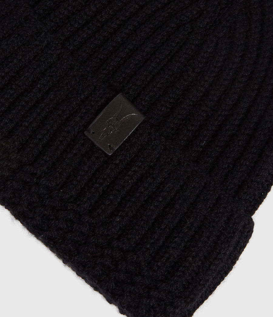 Men's Merino Wool Beanie (black) - Image 4