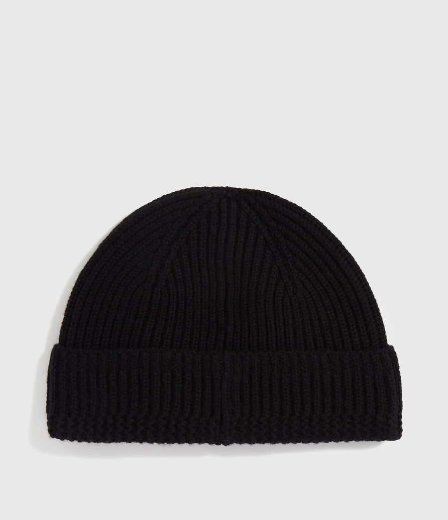 Men's Merino Wool Beanie (black) - Image 5