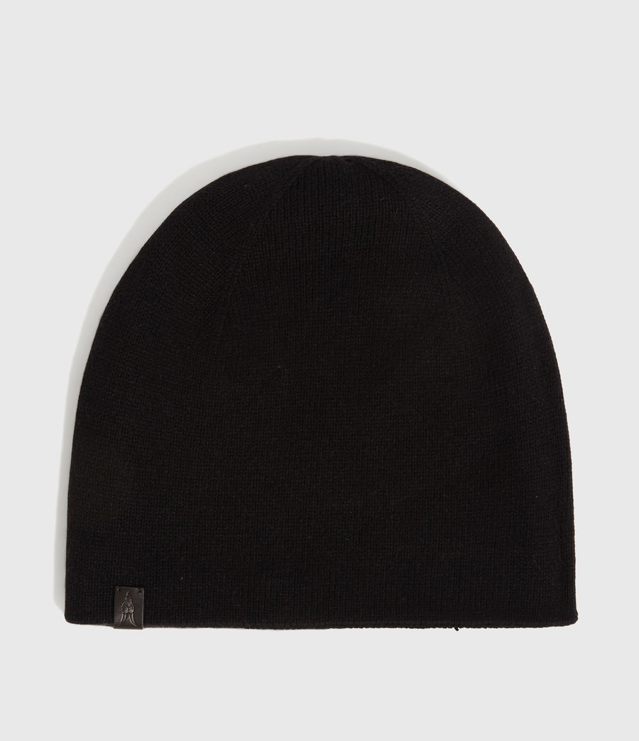 Men's Reversible Stripe Cashmere Blend Beanie (black_chalk) - Image 6