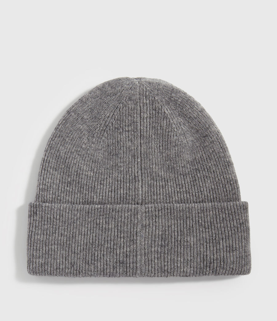 Men's Double Layer Cashmere Blend Beanie (grey_marl) - Image 5