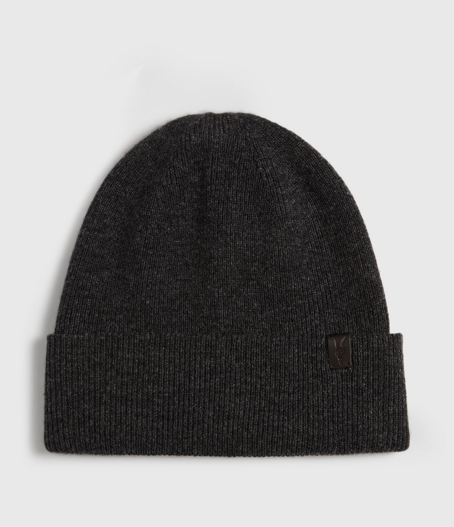 Mens Double Layer Beanie (cinder_black_marl) - Image 1