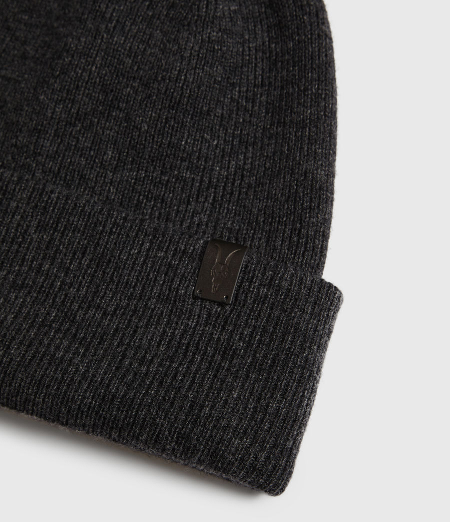Mens Double Layer Beanie (cinder_black_marl) - Image 3