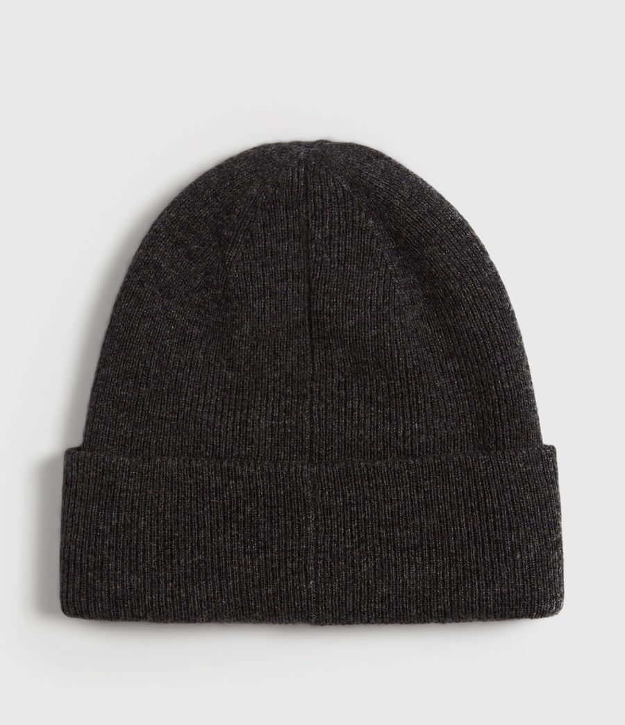 Mens Double Layer Beanie (cinder_black_marl) - Image 4