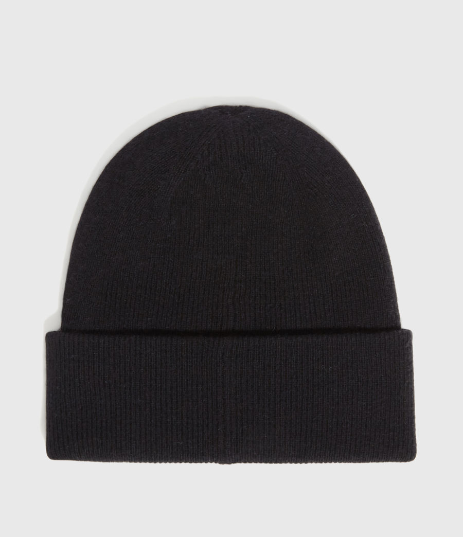 Hombres Double Layer Cashmere Blend Beanie (black) - Image 5