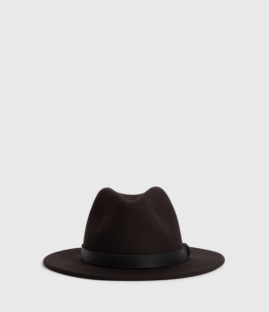 Mens Bronson Leather Fedora (bitter_brown) - Image 3