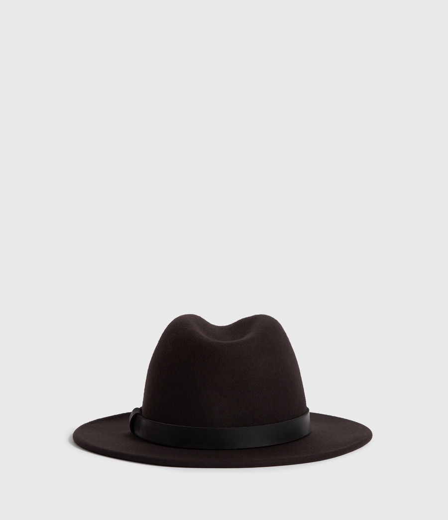 Mens Bronson Leather Fedora (bitter_brown) - Image 5