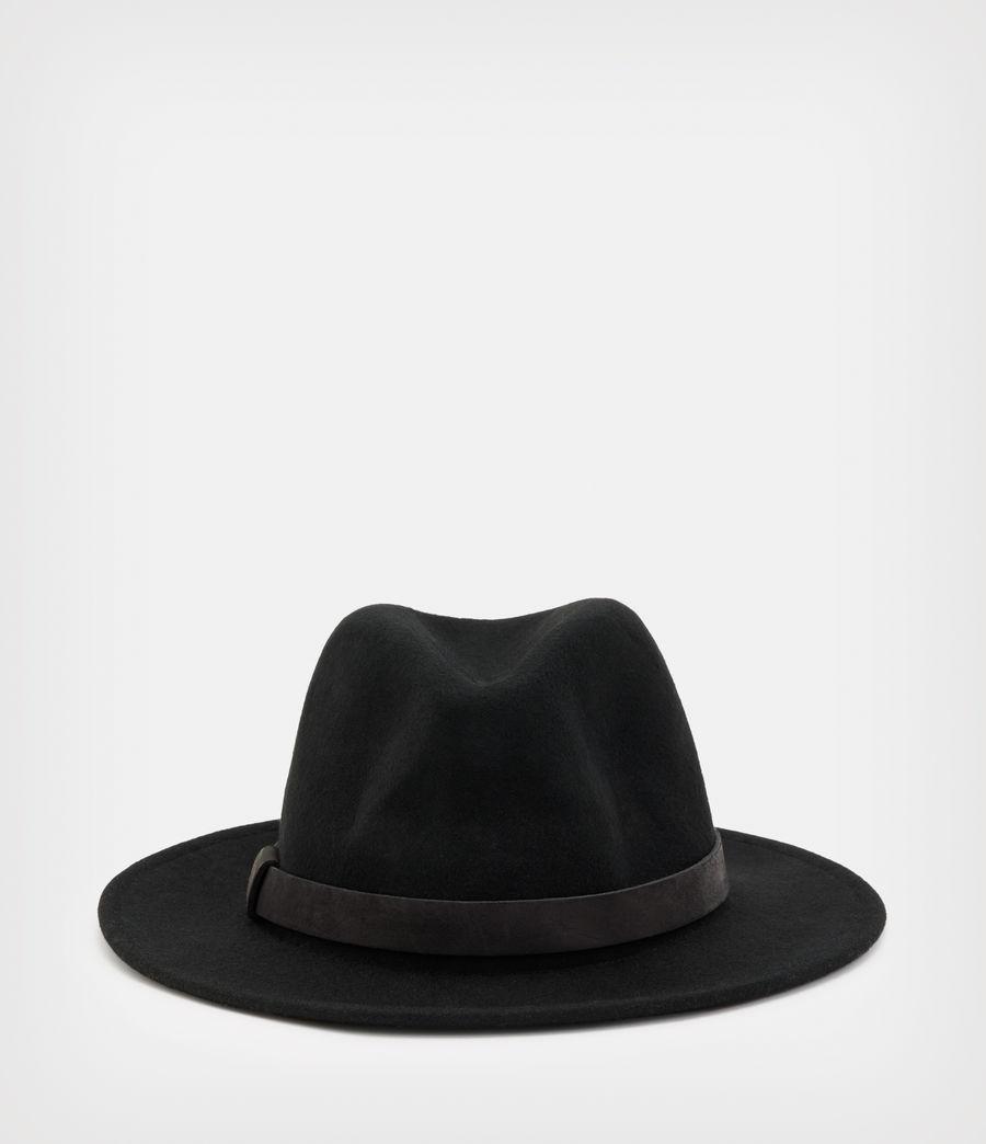 Hommes Bronson Fedora Hat (black) - Image 1