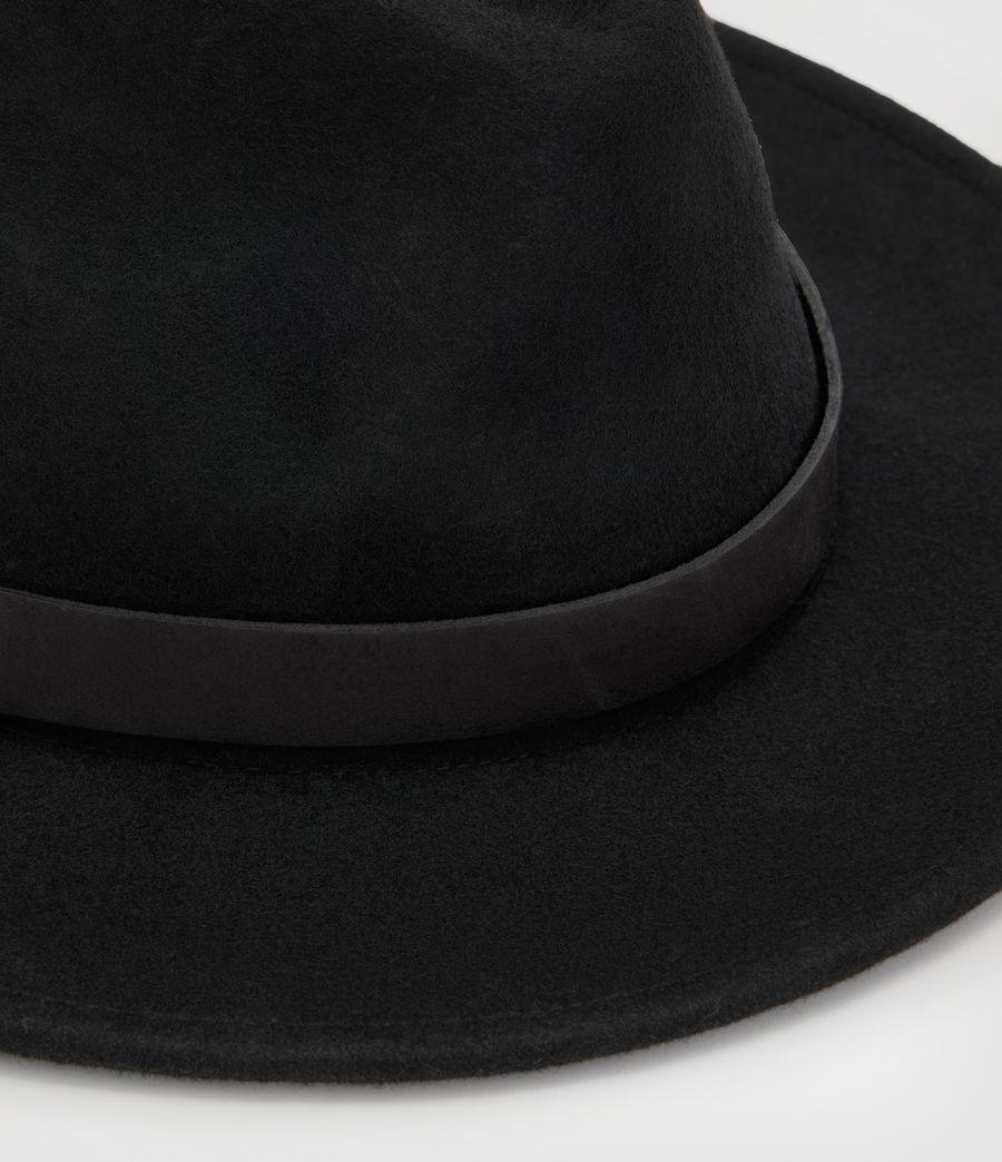 Hommes Bronson Fedora Hat (black) - Image 2
