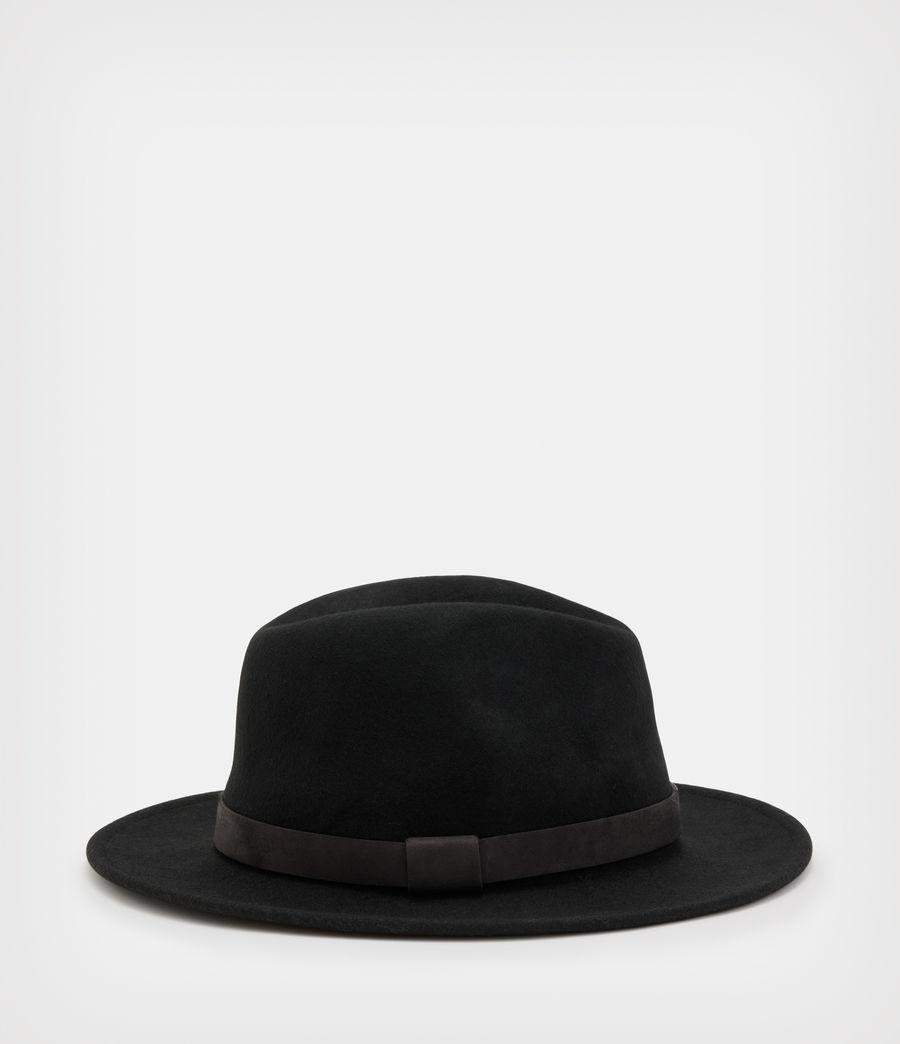 Hommes Bronson Fedora Hat (black) - Image 3