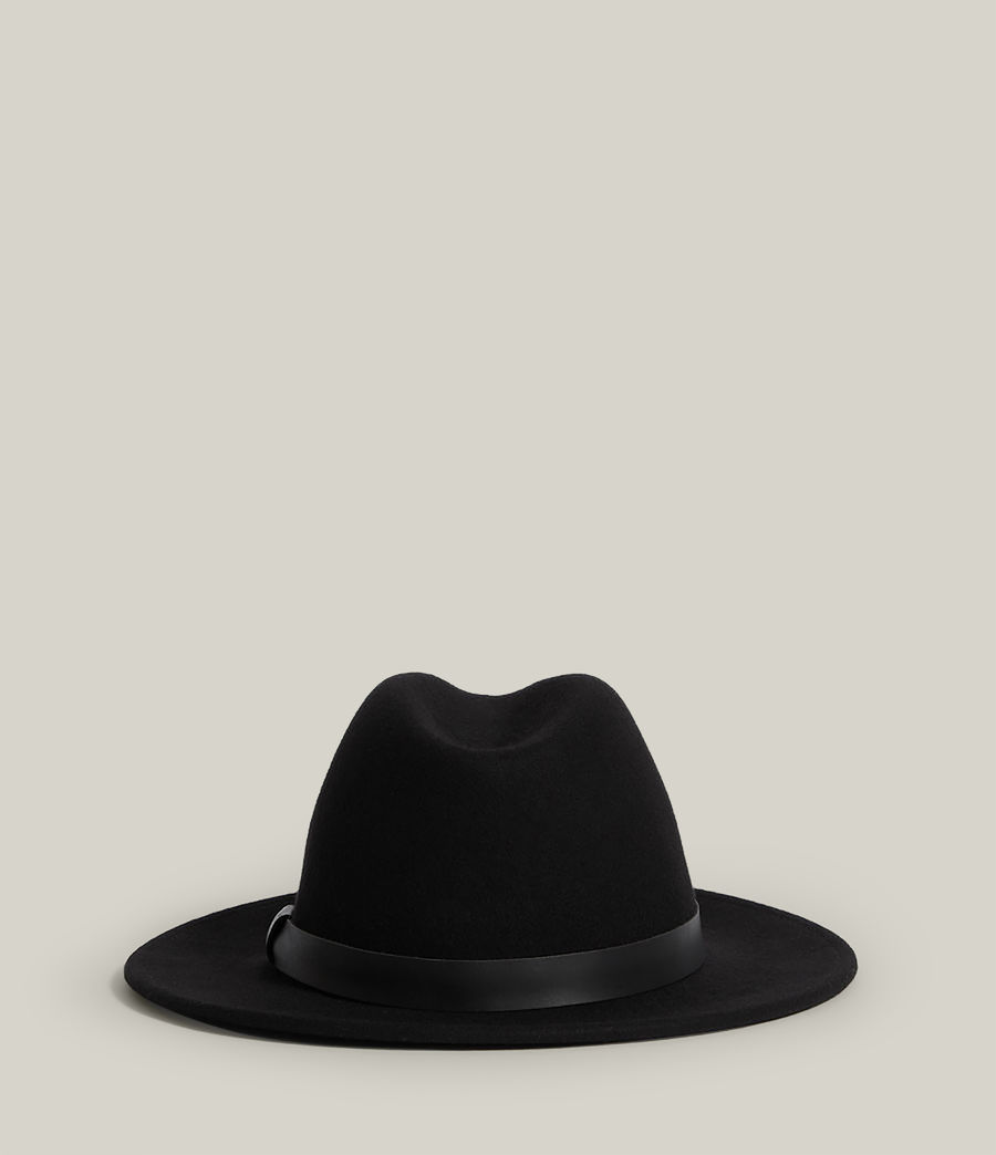Hommes Bronson Fedora Hat (black) - Image 4