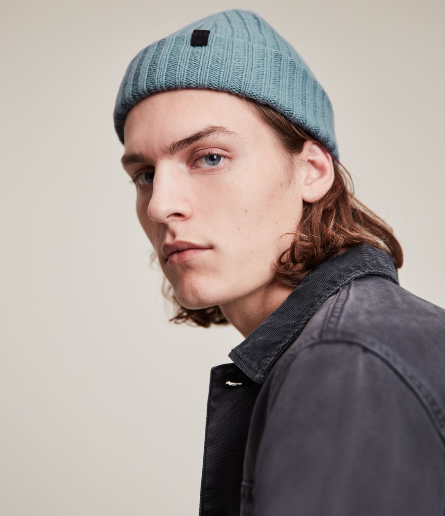 Men's Lonnie Wool Beanie (dusted_blue) - Image 2