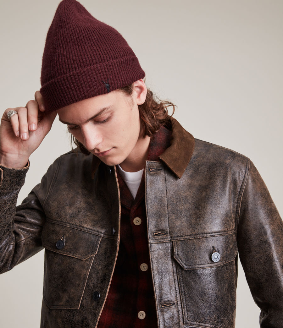 Men's Bailey Wool Beanie (charred_red) - Image 1
