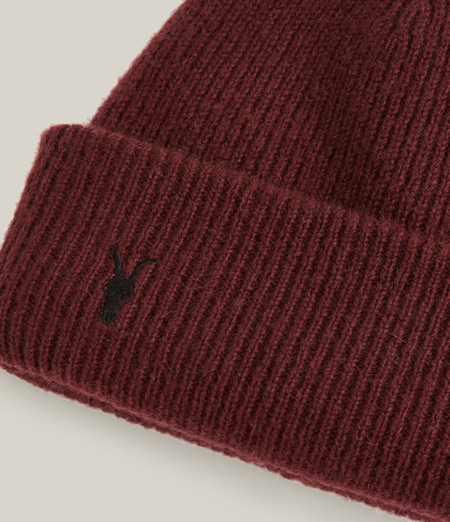 Men's Bailey Wool Beanie (charred_red) - Image 3
