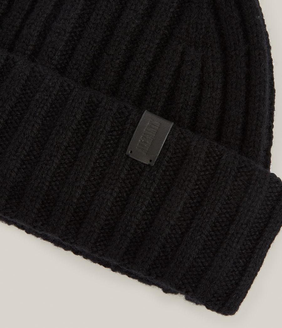 Men's Lonnie Wool Beanie (black) - Image 3