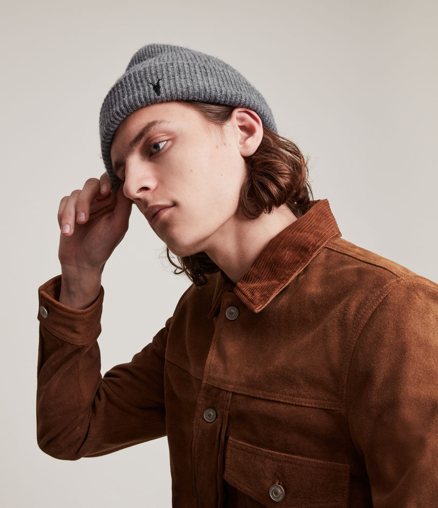Men's Bailey Wool Beanie (grey_marl) - Image 2