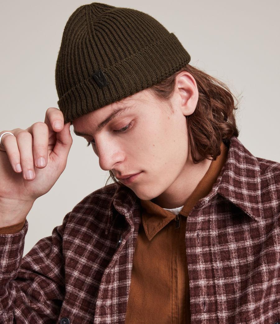 Men's Merino Wool Beanie (army_green) - Image 2
