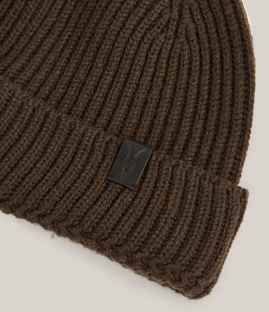 Men's Merino Wool Beanie (army_green) - Image 3