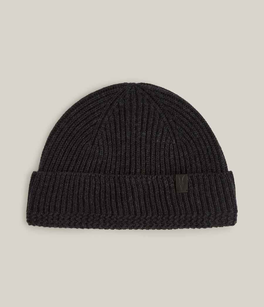 Men's Merino Wool Beanie (cinder_black_marl) - Image 2
