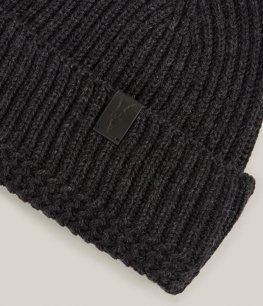 Men's Merino Wool Beanie (cinder_black_marl) - Image 3