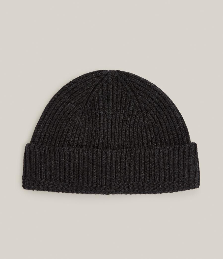 Men's Merino Wool Beanie (cinder_black_marl) - Image 4