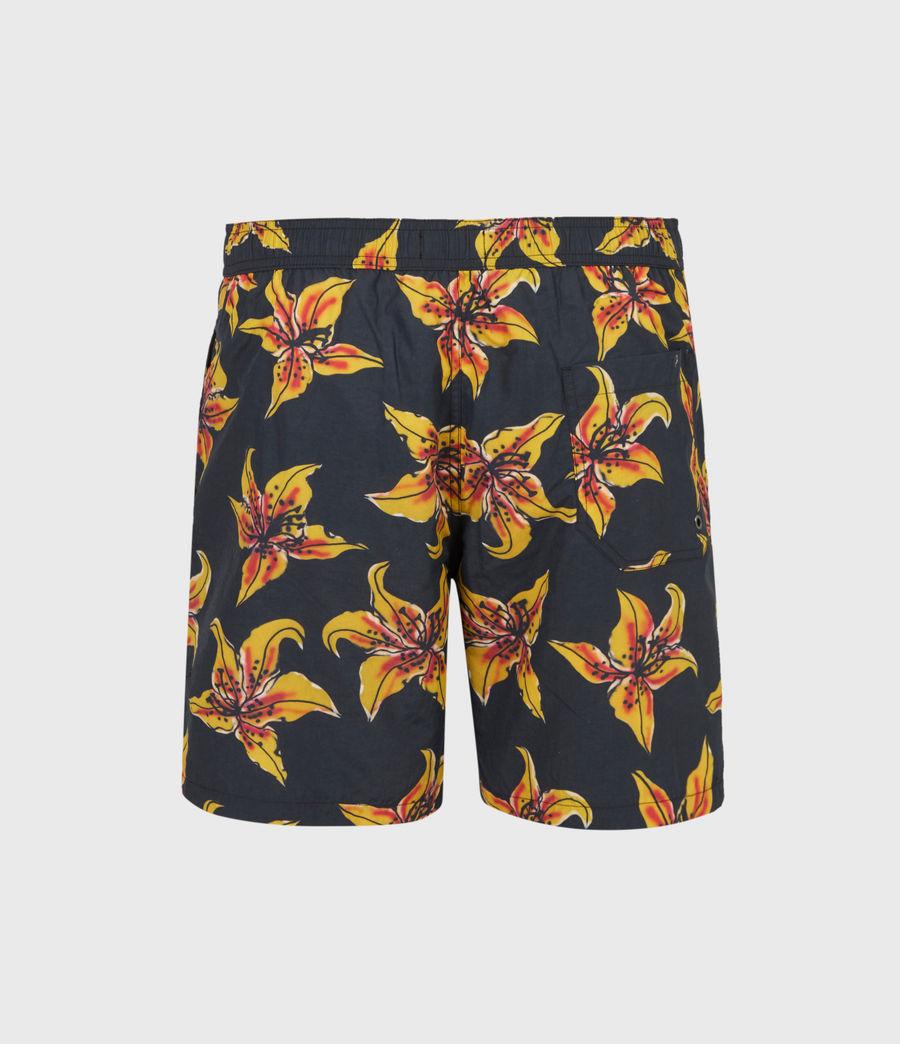 Mens Hibiscus Swim Shorts (black) - Image 3