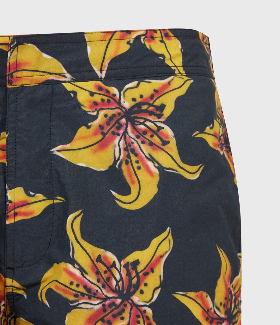Mens Hibiscus Swim Shorts (black) - Image 4
