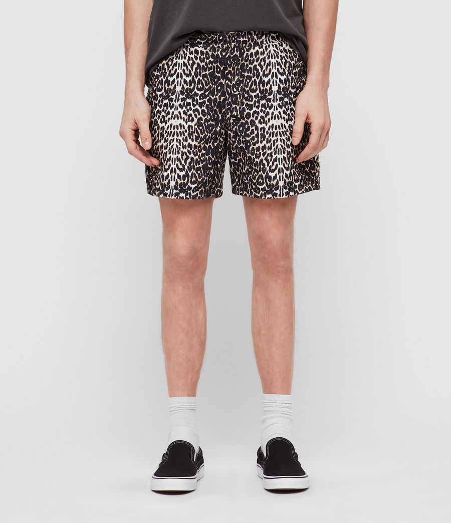 Men's Feline Swim Shorts (black) - Image 1