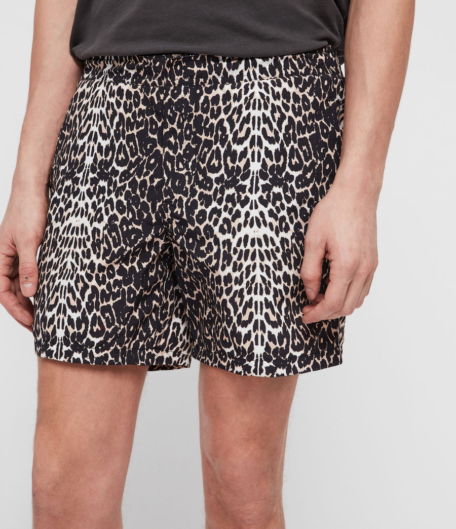 Men's Feline Swim Shorts (black) - Image 4