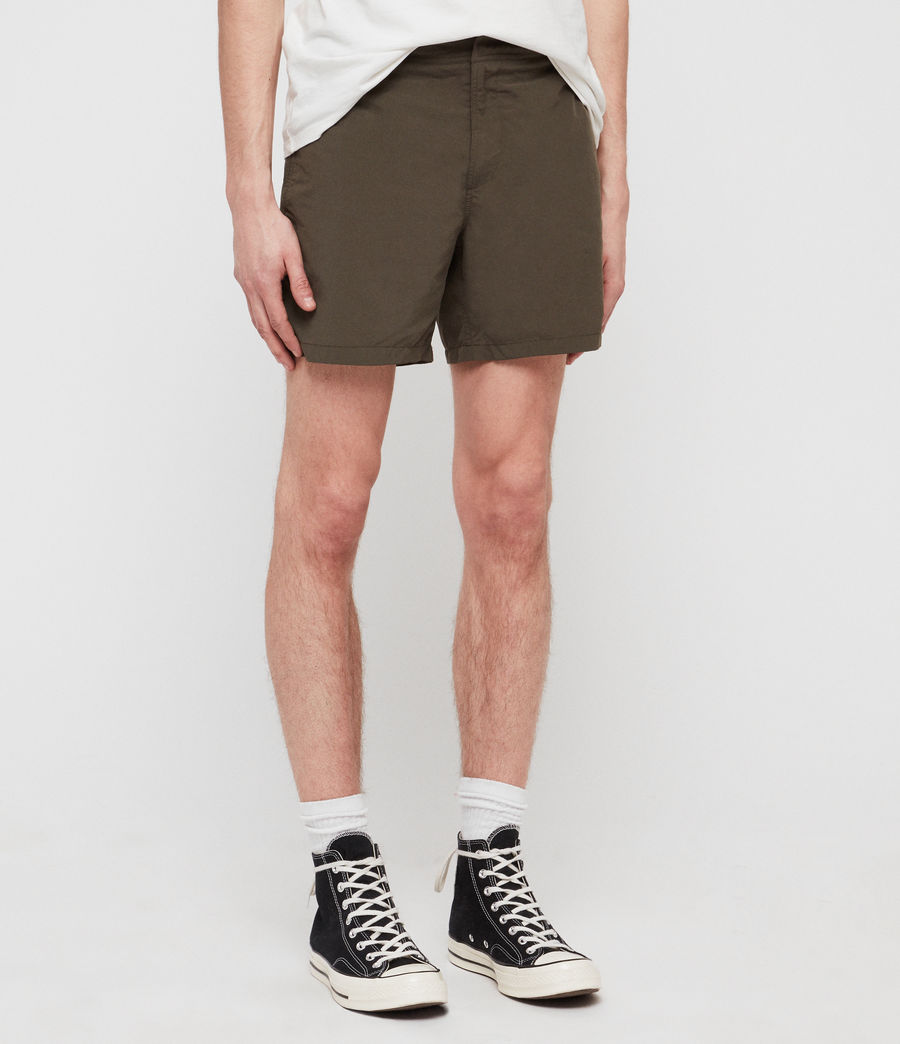 Mens Warden Swim Shorts (khaki_green) - Image 2