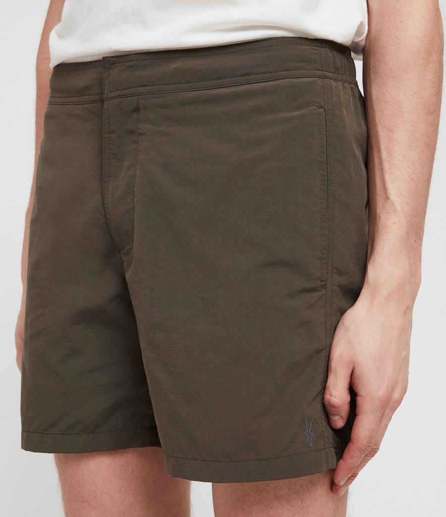 Mens Warden Swim Shorts (khaki_green) - Image 4