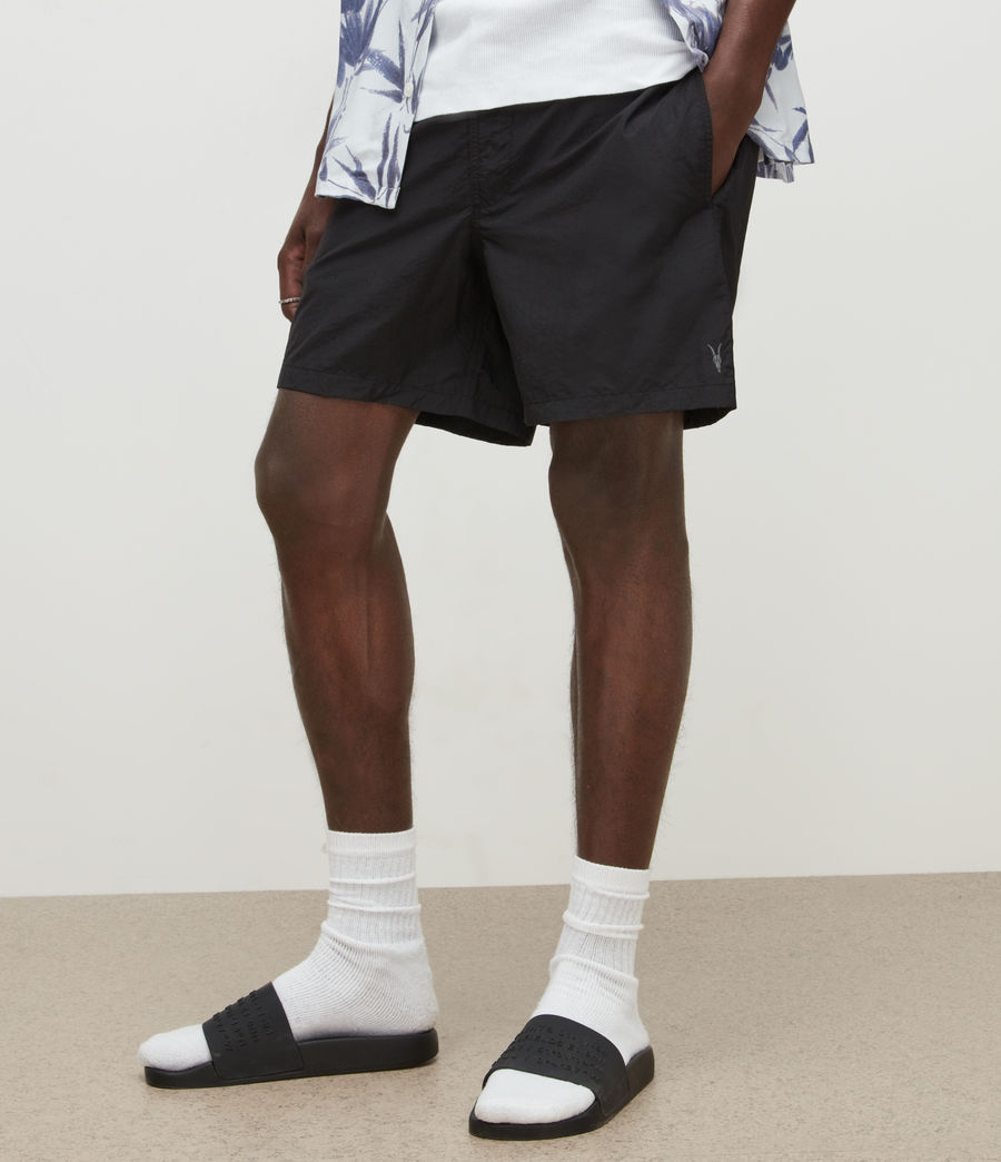 Mens Warden Swim Shorts (jet_black) - Image 2