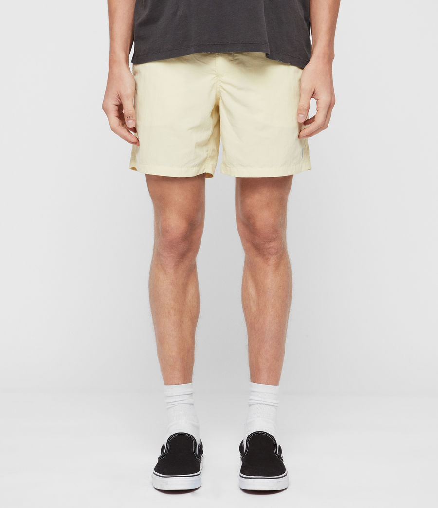 Mens Warden Swim Shorts (sherbert_yellow) - Image 1