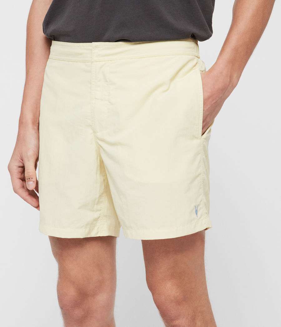 Mens Warden Swim Shorts (sherbert_yellow) - Image 4