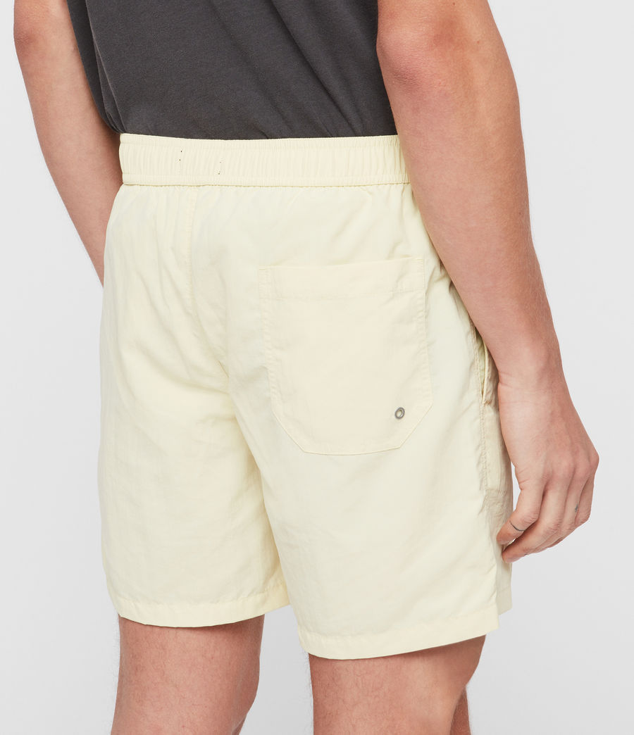 Mens Warden Swim Shorts (sherbert_yellow) - Image 5