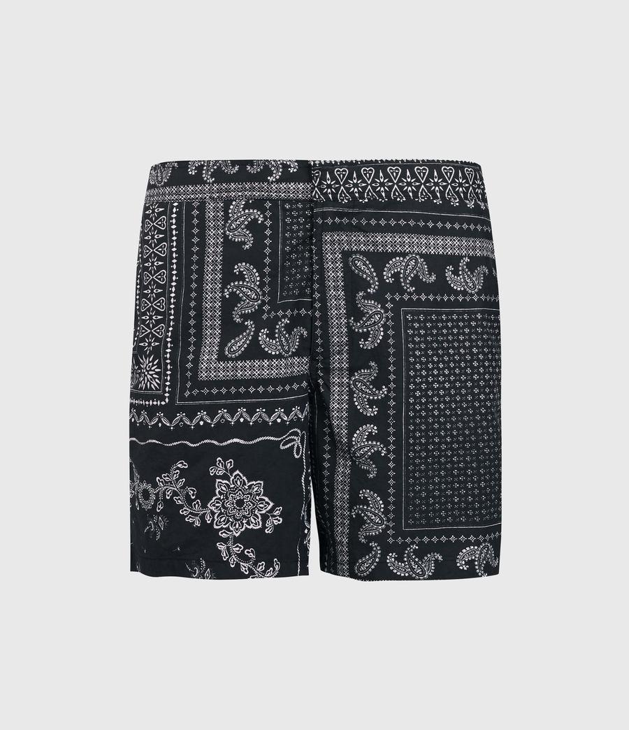 Men's Bandana Swim Shorts (black) - Image 1