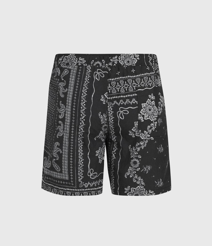 Men's Bandana Swim Shorts (black) - Image 2