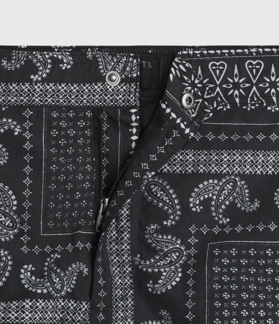 Men's Bandana Swim Shorts (black) - Image 3
