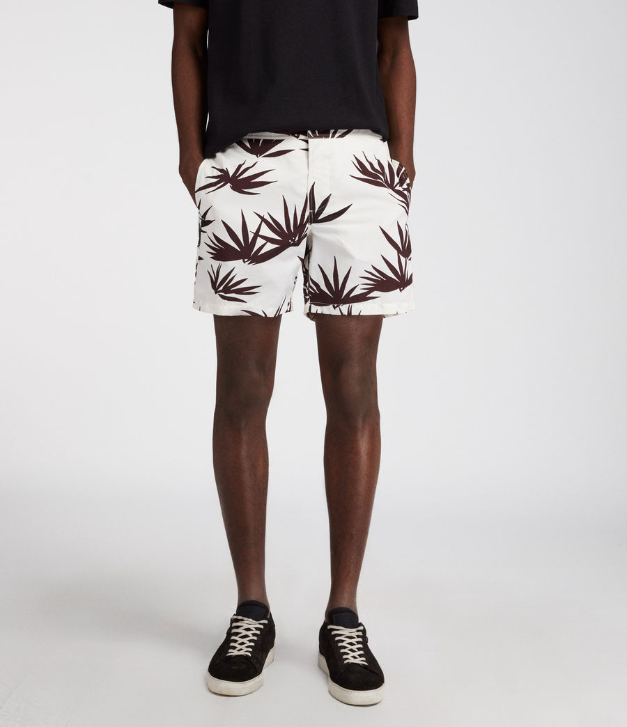 Men's Bhutan Swim Shorts (ecru) - Image 2