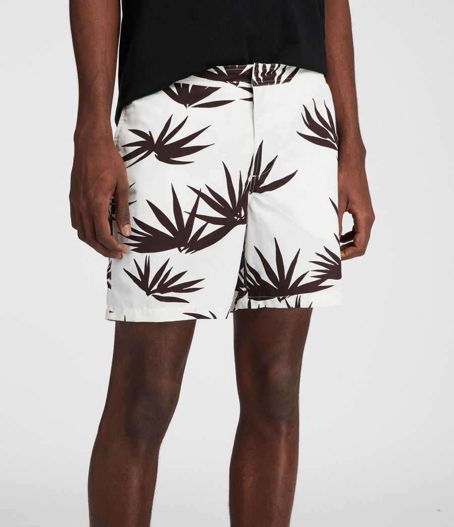 Men's Bhutan Swim Shorts (ecru) - Image 3