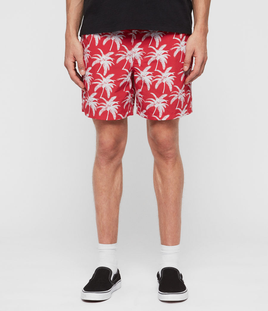 Mens Santa Cruz Swim Shorts (red) - Image 1