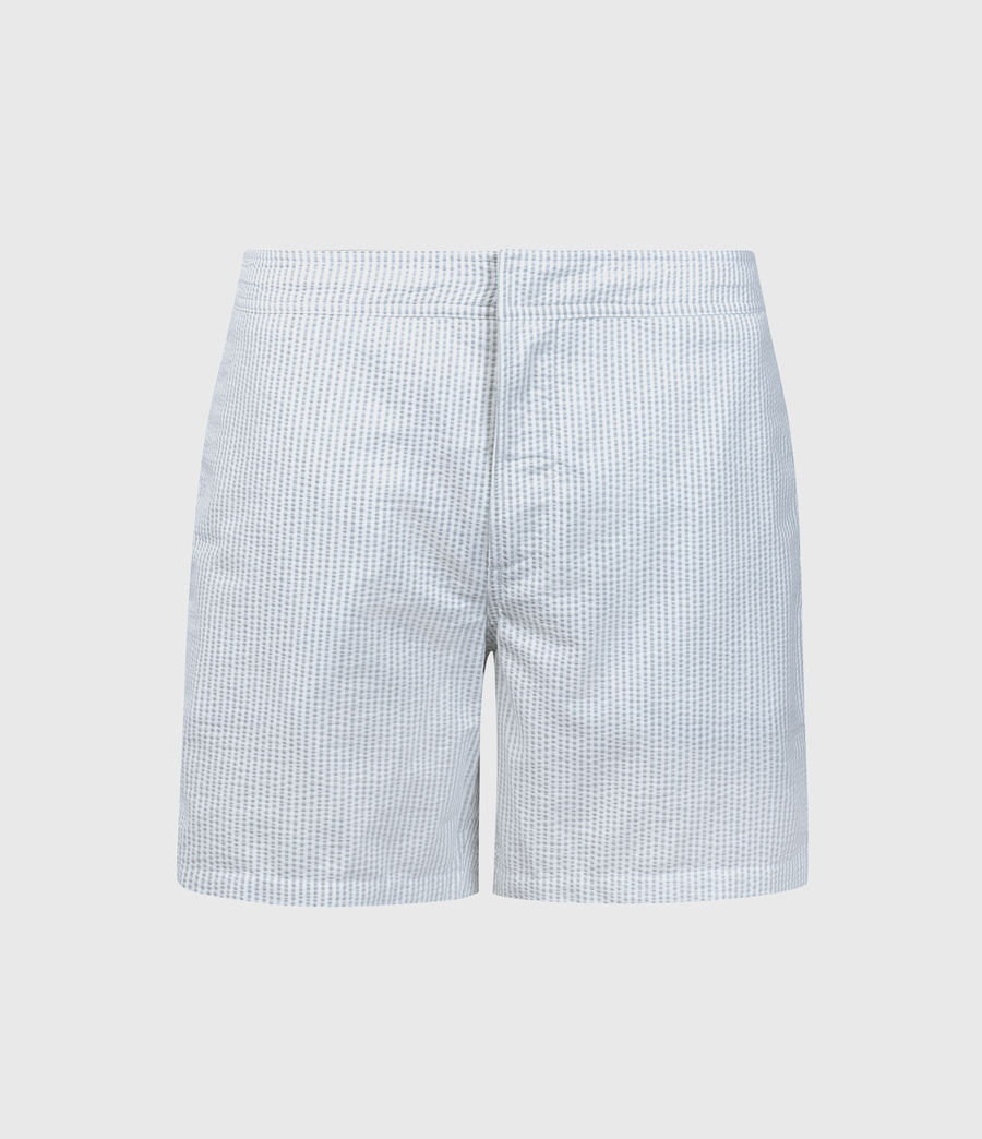 Mens Seersucker Swim Shorts (vista_blue_chalk) - Image 1