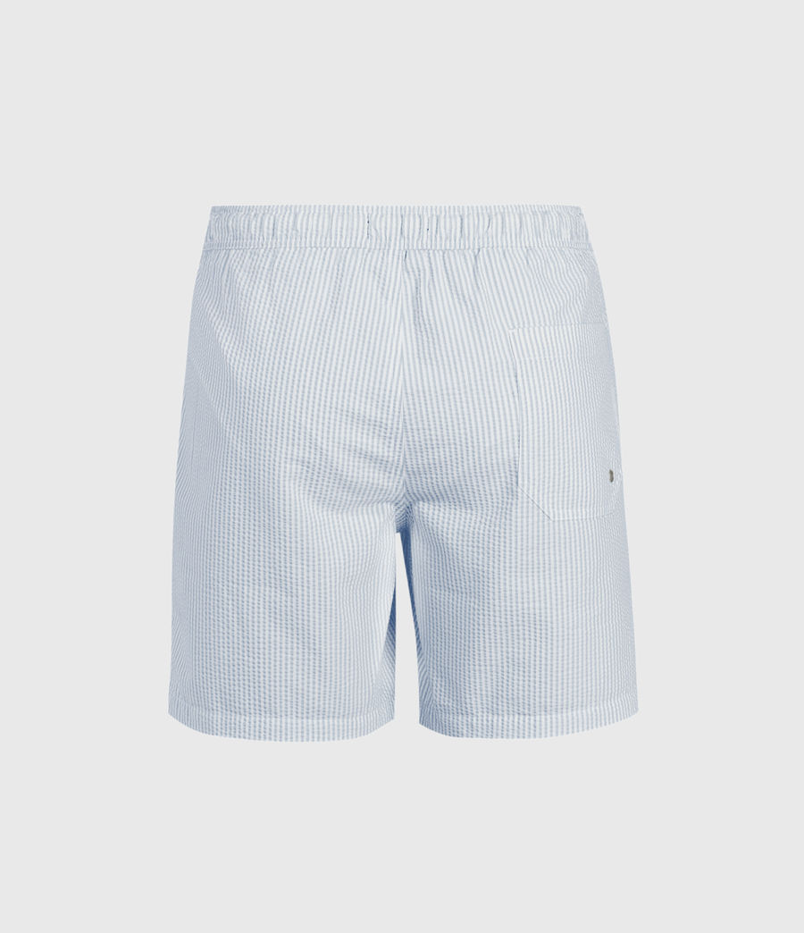 Mens Seersucker Swim Shorts (vista_blue_chalk) - Image 2