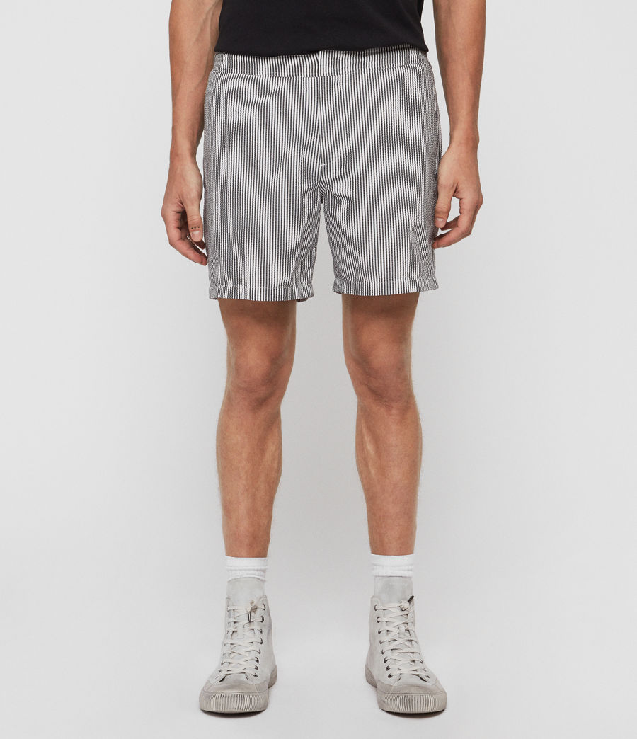 Mens Seersucker Swim Shorts (ink_navy_white) - Image 1