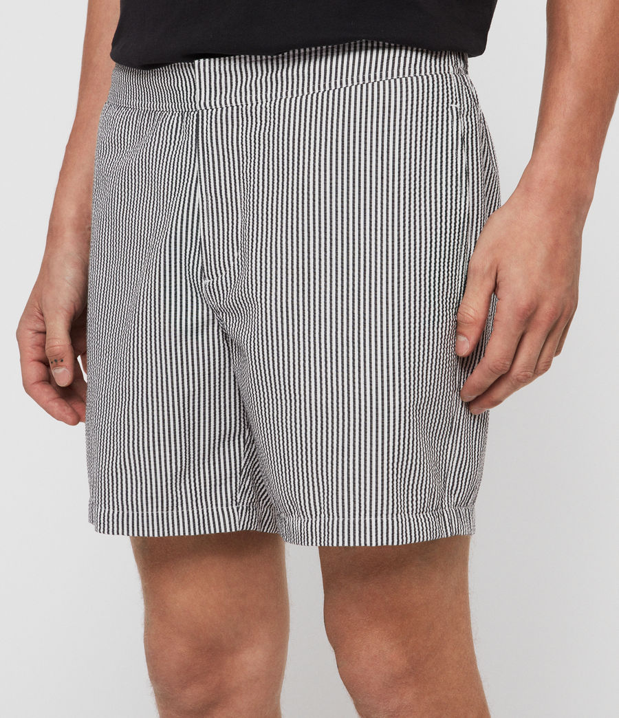 Mens Seersucker Swim Shorts (ink_navy_white) - Image 4