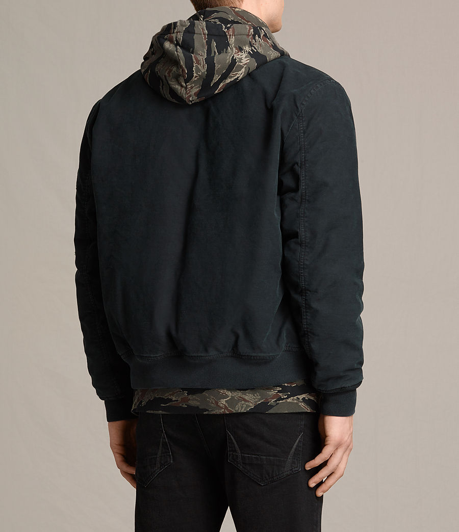 Hombres Cazadora bomber Vale (black) - Image 4